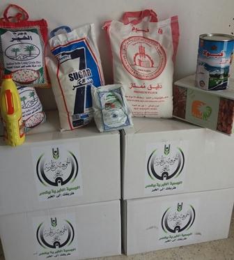 جمعية بللحمر توزع السلات الغذائية للمستفيدين